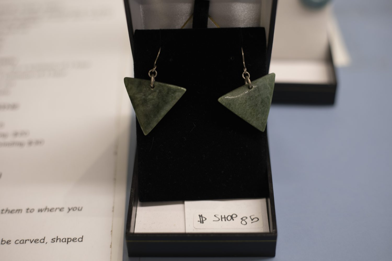 Bonz N Stonz Carving Studio - Jade earrings for sale