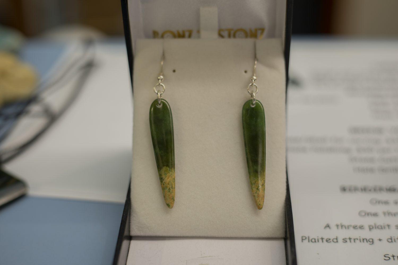 Bonz N Stonz Carving Studio - jade pounamu earrings for sale