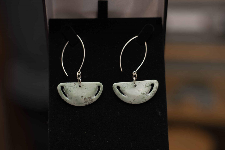 Bonz N Stonz Carving Studio - Jade earrings